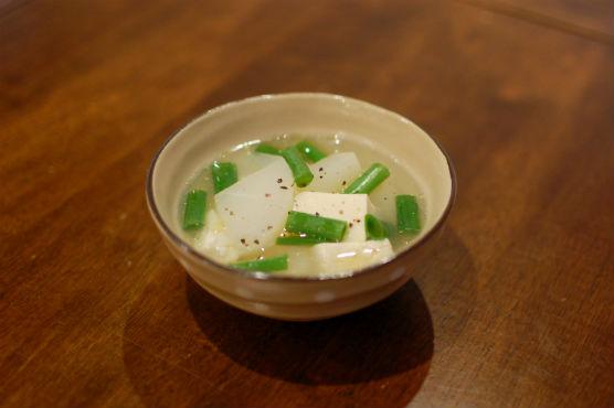 大根と豆腐のスープ