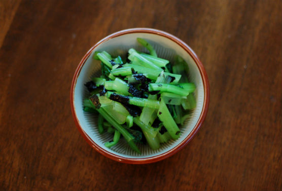 小松菜の海苔和え