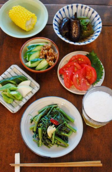 信州四賀 たべくら農園の無農薬夏野菜で贅沢晩酌