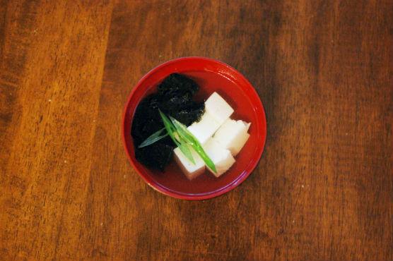 海苔と豆腐のすまし汁