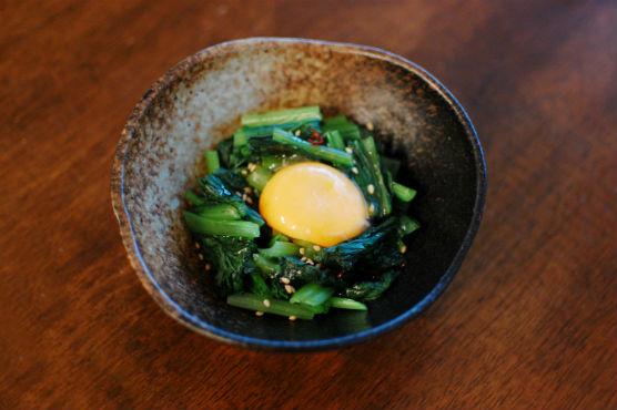 小松菜の黄身和え