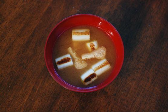 焼きねぎの味噌汁