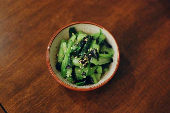 小松菜の海苔塩和え