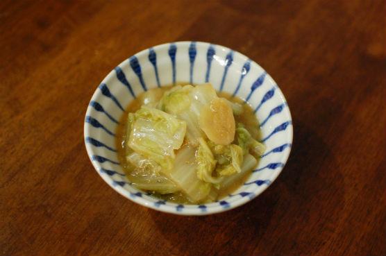 白菜のしょうが味噌煮込み
