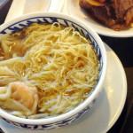 海老ワンタン麺の食べ比べ、香港一人旅で食べたもの その1。