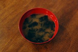 焼き海苔の味噌汁