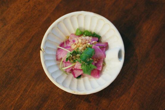 紫大根のサラダ