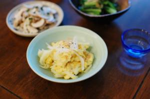 新玉ねぎの卵炒め献立