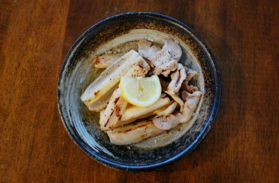 豚肉とれんこんの塩焼き