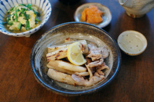 豚肉とれんこんの塩焼き献立