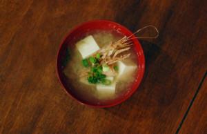 ガサエビの味噌汁