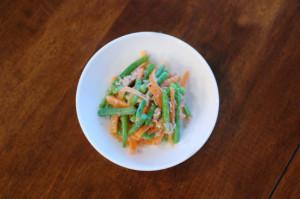 ンゲンとにんじんのツナサラダ