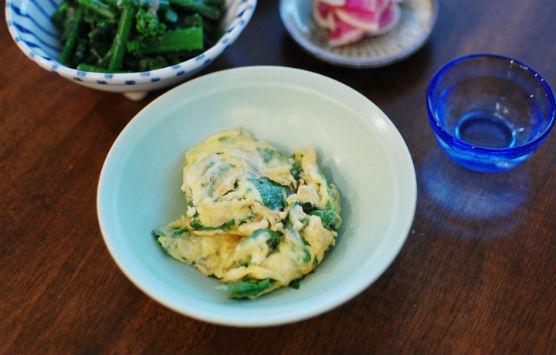 セロリと卵の炒めもの献立