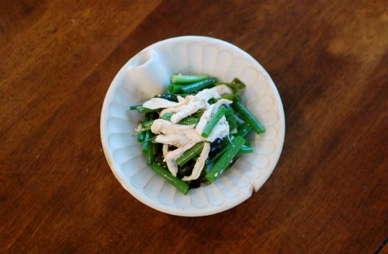 蒸し鶏とねぎのサラダ
