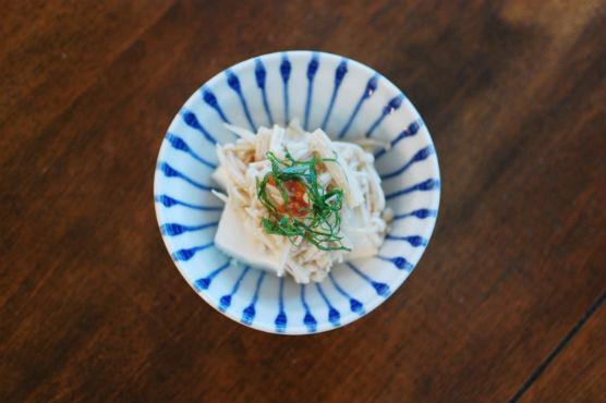 えのき梅豆腐
