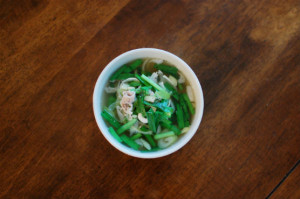 豚とにらのスープ