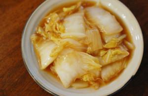 白菜の黒酢炒め