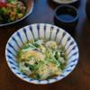 水菜の卵とじ献立