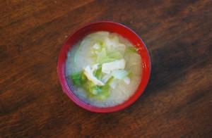 キャベツの味噌汁