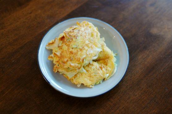 キャベツ入り卵焼き