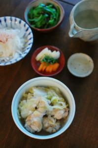 手羽元と白菜の煮込み