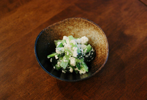 小松菜のわさび白和え