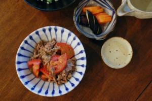 牛肉とトマトのしょうゆ炒め