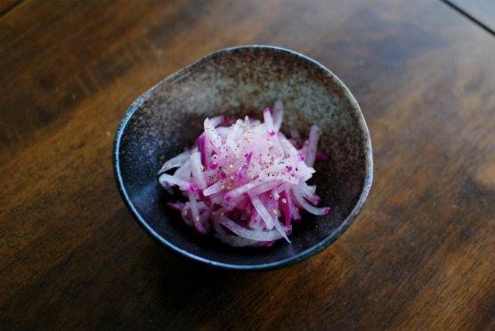 紫大根のナムル