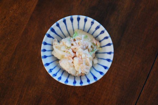 豆腐の明太子炒め