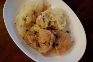 豚ロースとキャベツの白ワイン煮