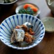 いわしの梅煮、小松菜海苔和え奴