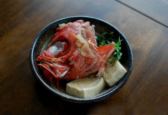金目鯛のかぶと煮