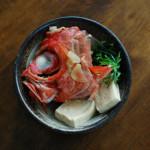 金目鯛のかぶと煮、蒸しなすのねぎ塩和え献立。