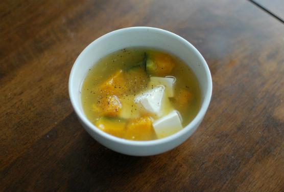 かぼちゃと豆腐のスープ