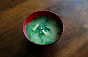 三つ葉の味噌汁