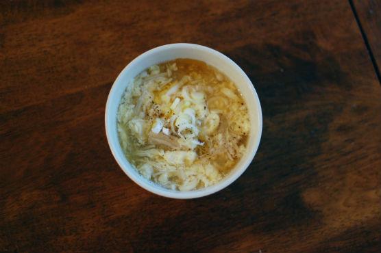 卵ときのこの黒酢スープ