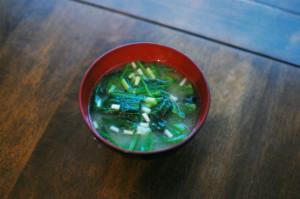 ほうれん草の味噌汁