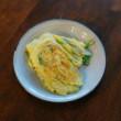 セロリ卵炒め