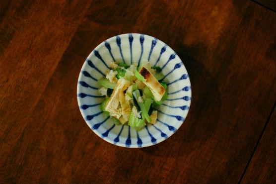 小松菜と油揚げのおろし和え