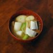 秋刀魚のしょうが味噌汁