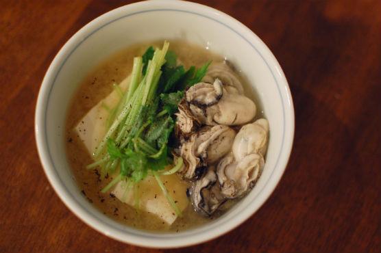 牡蠣豆腐(味噌味)