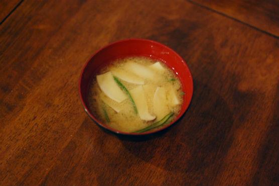 エリンギの味噌汁