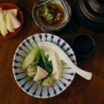 鳥豆腐で汁飲み晩酌。