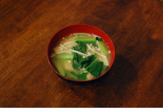 えのきと小松菜の味噌汁