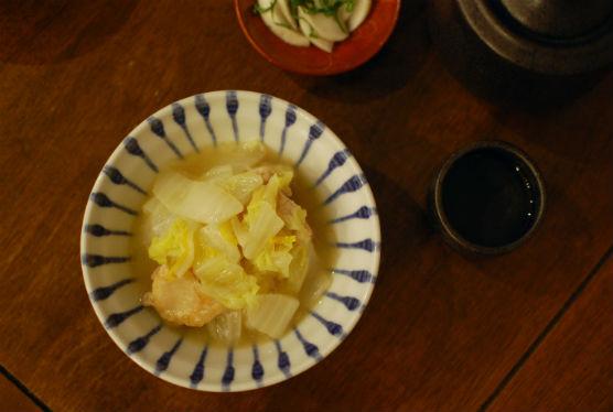 鶏ゆず白菜献立