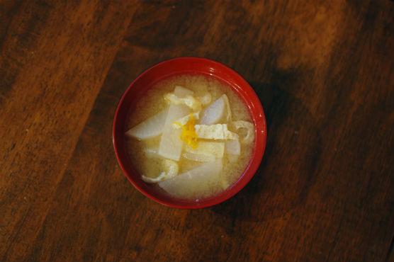 大根のゆず風味味噌汁