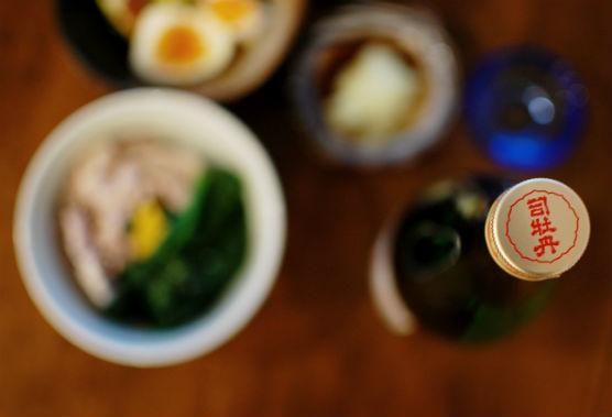 高知の酒 司牡丹 裏 純米酒で晩酌