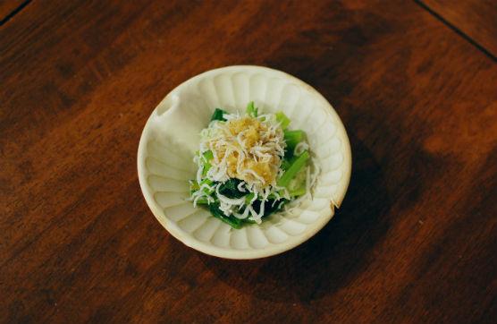 小松菜のしらすおろし和え