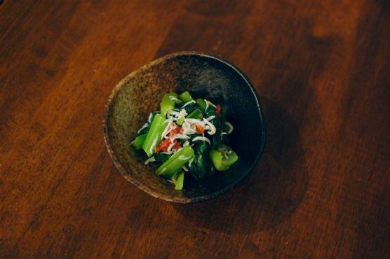小松菜の梅しらす和え