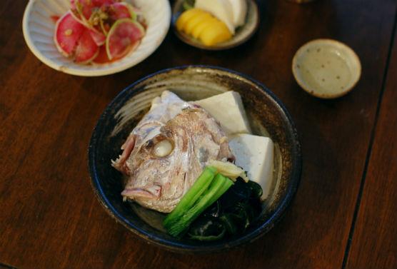 鯛あらと豆腐のしょうが蒸し